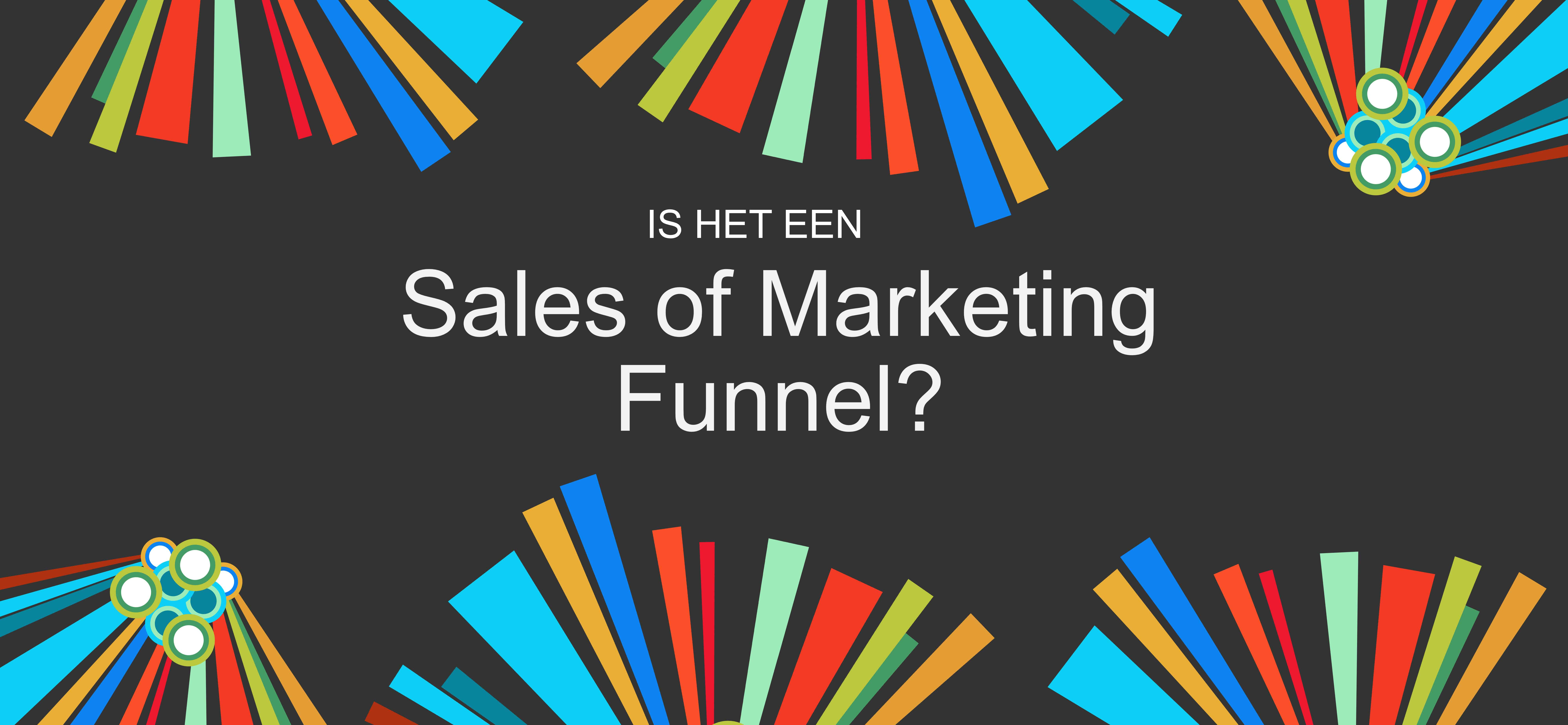 Sales And Marketing Dark Colorful Elements